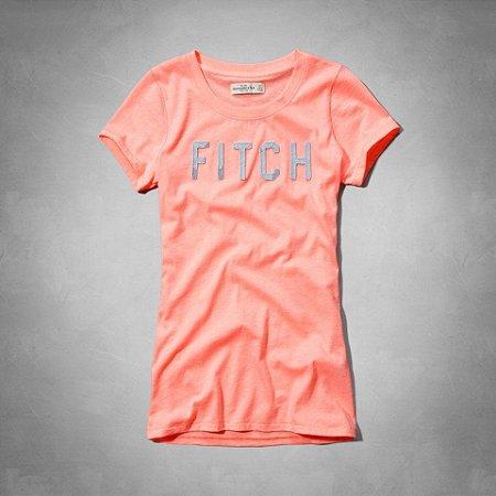 Camiseta Abercrombie & Fitch Feminina Carley  - Neon Orange