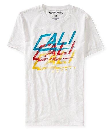 Camiseta Aéropostale Masculina Cali Merled - Bleach