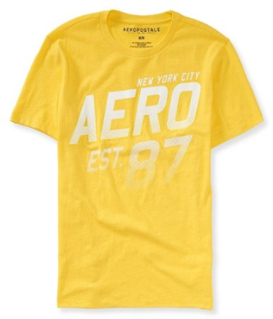 Camiseta Aéropostale Masculina NY City Est. 87 - Yellow