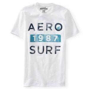 Camiseta Aéropostale Masculina Aero 1987 Surf - Bleach
