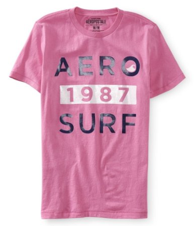 Camiseta Aéropostale Masculina Aero 1987 Surf - Light Pink