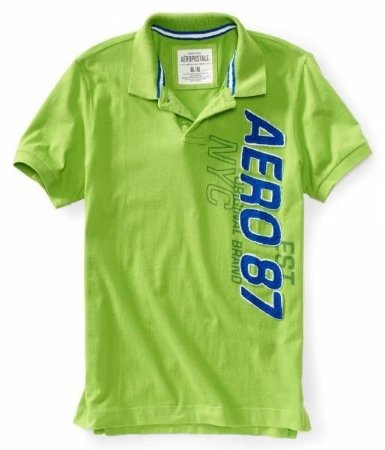 Polo Aéropostale Masculina NYC Active Jersey - Lime Green