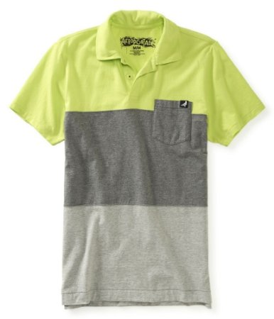 Polo Aéropostale Masculina Colorblocked Jersey - Lime Green
