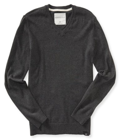 Sweater Aéropostale Masculino  V-Neck Solid - Charcoal Grey