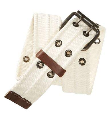 Cinto Aéropostale Masculino Grommet Belt - Bleach