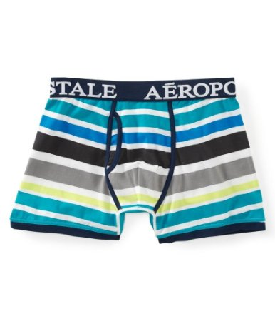 Cueca Aéropostale Masculina Gradient Striped Knit - Tile Blue
