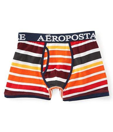 Cueca Aéropostale Masculina Gradient Striped Knit - DK Orange