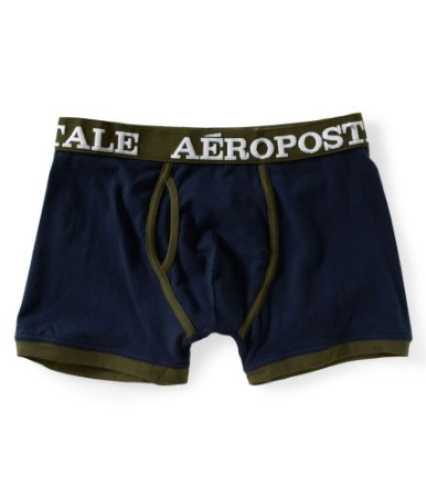 Cueca Aéropostale Masculina Solid Knit Boxers - Deep Navy
