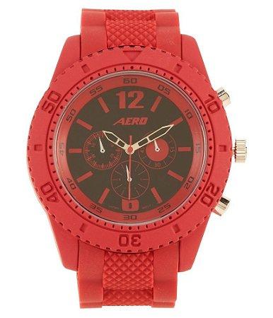 Relógio Aéropostale Textured Rubber - Red