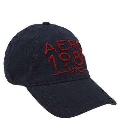 Boné Aéropostale Aero 1987 NYC Fitterd Hat - Deep Navy