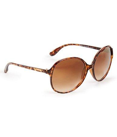 Óculos Aéropostale Tortoiseshell Round Plastic - Brown