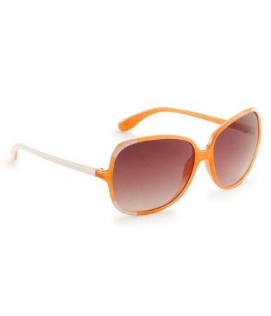 Óculos Aéropostale Colorblock Angle Classic Round - Bleach and Orange