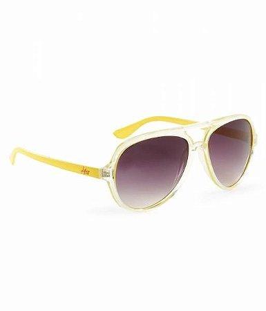 Óculos Aéropostale Neon Plastic Aviator Sunglasses - Lemon Zest
