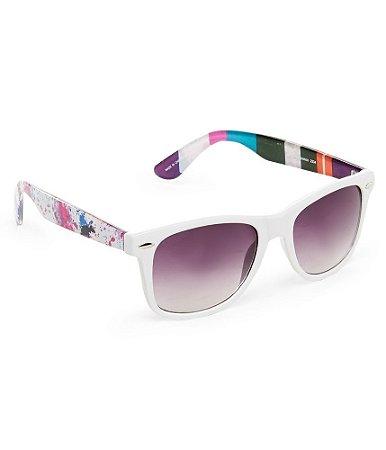 Óculos Aéropostale Print Mix Wayfarer - White