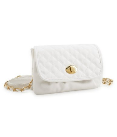Bolsa Aéropostale Feminina Quilted Mini Crossbody Bag - White