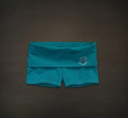 Short Hollister Feminino Yoga Logo - Turquoise