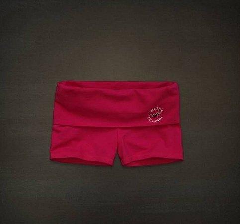 Short Hollister Feminino Yoga Logo - Pink