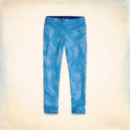 Calça Hollister Feminino Sport Crop Legging - Tie Dye Turquoise