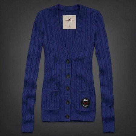 Sweater Hollister FemininoMission Beach - Blue