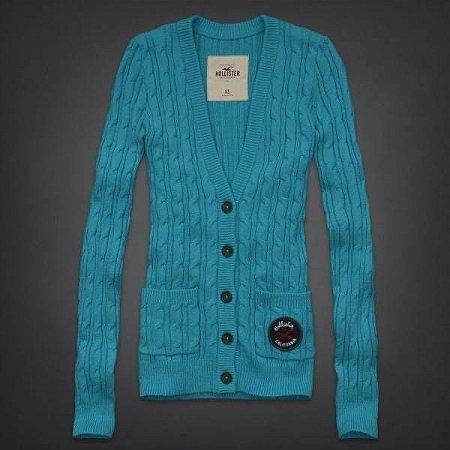 Sweater Hollister Feminino Mission Beach - Turquoise
