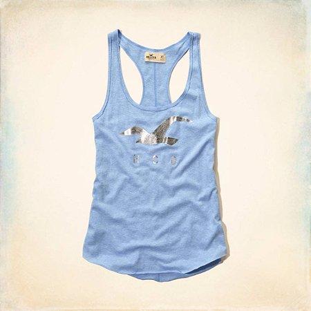 Blusinha Hollister Feminina Desert Spring Tank - Light Heather Blue