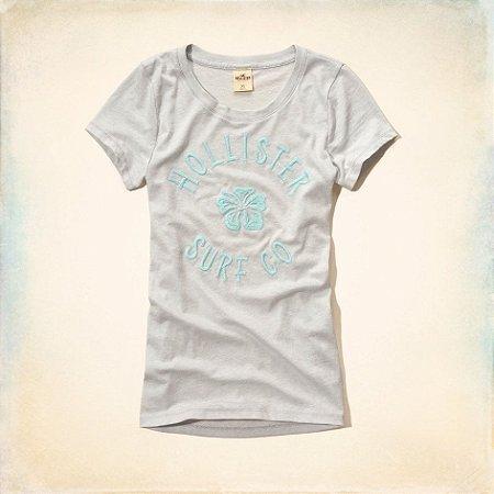 Camiseta Hollister Feminina Surfers Knoll Tee - Light Grey