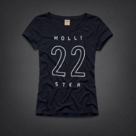 Camiseta Hollister Feminina Rocky Point Shine - Navy
