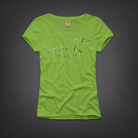 Camiseta Hollister Feminina Rocky Point Shine - Green