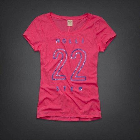 Camiseta Hollister Feminina Rocky Point Shine - Pink