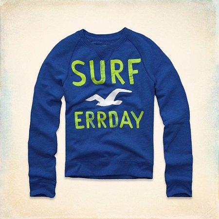 Sweatshirt Hollister Masculina Dana Strands - Blue