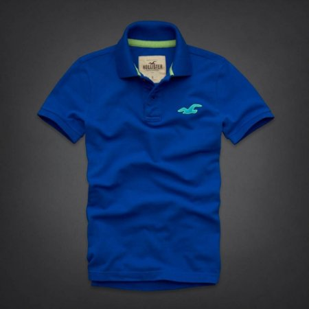 Polo Hollister Masculina Wipeout Beach - Blue
