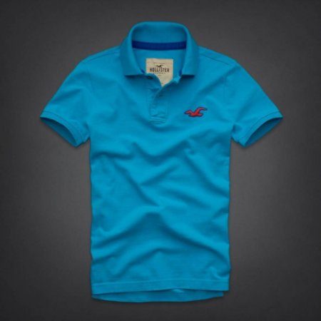 Polo Hollister Masculina Wipeout Beach - Turquoise