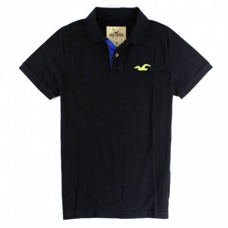 Polo Hollister Masculina Paradise Cove - Navy & Blue