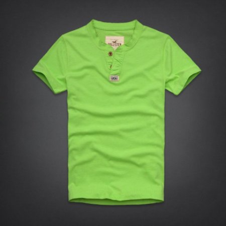 Camiseta Hollister Masculina Rockpile Henley - Light Green