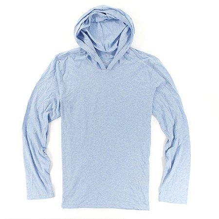 Manga Longa Armani Exchange Masculina Basic Sweatshirt - Heather Blue