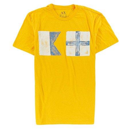 Camiseta Armani Exchange Masculina Box AX - Yellow