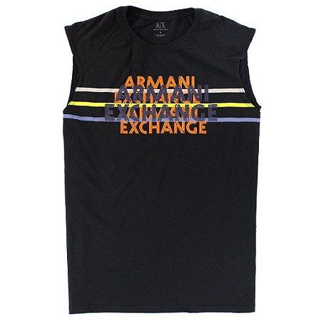 Camiseta Armani Exchange Masculina Color AX Tee - Black