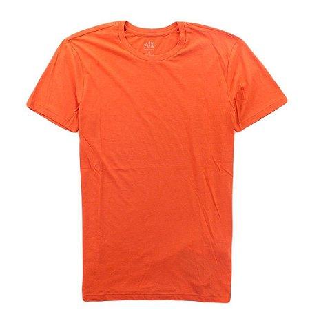 Camiseta Armani Exchange Masculina Crew Neck Tee - Pumpkin