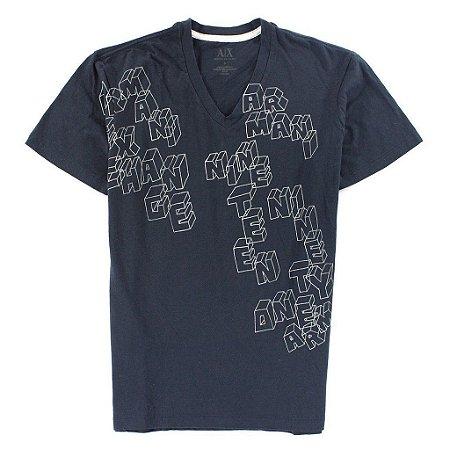 Camiseta Armani Exchange Masculina Gamer Tee - Dark Navy