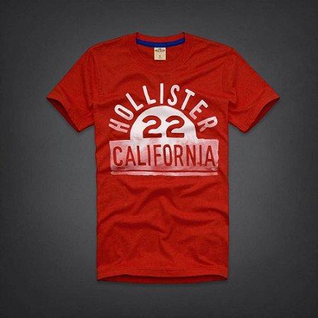 Camiseta Hollister Masculina Laguna Hills T-Shirt - Red