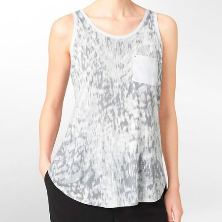 Blusinha Calvin Klein Feminina Abstract Print Tank - Light Grey