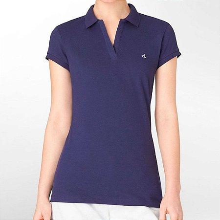 Polo Calvin Klein Feminina Cap Sleeve - Purple