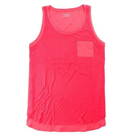Blusinha Calvin Klein Feminina Heathered Accent Tank - Pink
