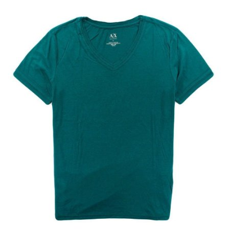 Camiseta Armani Exchange Masculina Triple V-Neck Tee - Green Ocean