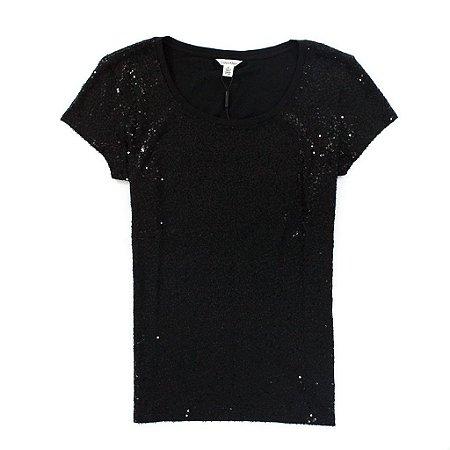 Camiseta Calvin Klein Feminina Heathered - Black