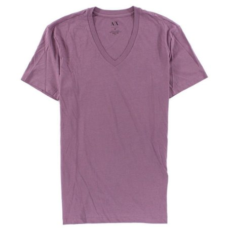 Camiseta Armani Exchange Masculina V-Neck Tee - Faded Purple
