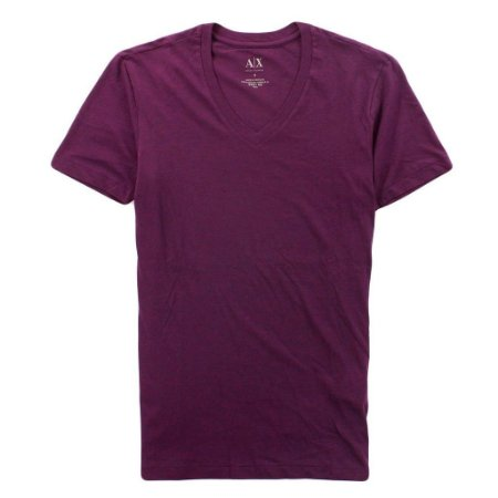 Camiseta Armani Exchange Masculina V-Neck Tee - Plum Purple