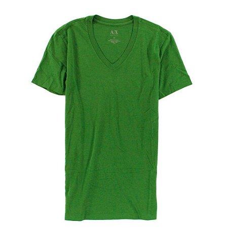 Camiseta Armani Exchange Masculina V-Neck Tee - Tree Top Green