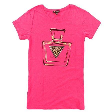 Camiseta Guess Feminina Nadia Tee - Raspberry Sherbert