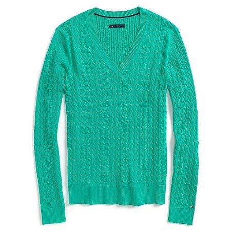 Sweater Tommy Hilfiger Feminina Knit - Green